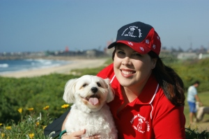 Aussie Pooch Mobile Franchisee with her loyal  dog